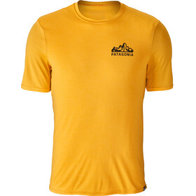Patagonia M's Capilene Daily Graphic T-Shirt Fitz Roy Scope: Rugby Yellow X-Dye